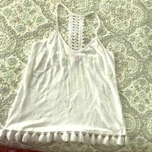 Brand new Lilly Pulitzer tank with tassels!